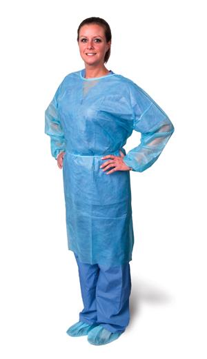Isolation Gown, Regular, Blue, 10/bg, 5 bg/cs