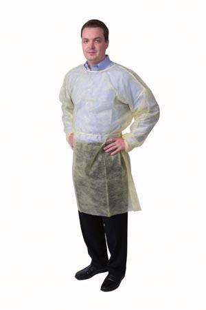 Isolation Gown, X-Large, Yellow, 10/bg, 5 bg/cs