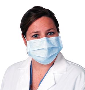 Face Mask, Procedure, Earloop, Blue, Latex Free