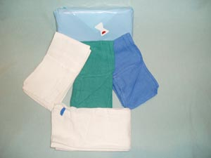 STERILE O.R. TOWELS 17X26 BLUE