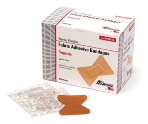 "Adhesive Bandage, Finger Tip, 1"" x 2"", 100/bx, 12 bx/cs"