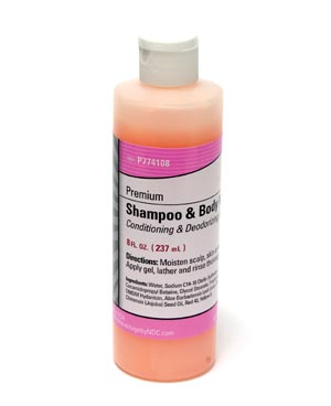 Premium Shampoo & Body Wash, 8 oz Bottle, Flip Top Cap, 48/cs