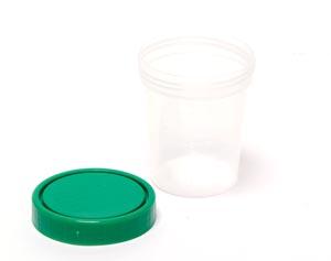 Specimen Container, Screw-On Lid, 4 oz, Non-Sterile, 25/slv, 20 slv/cs
