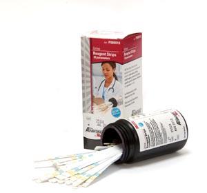 Urine Reagent Strips, 10 Parameter, Leukocytes, Nitrite, Urobilinogen, Protein, pH, Blood, Specific Gravity, Ketone, Bilirubin, Glucose, CLIA Waived, 100/btl