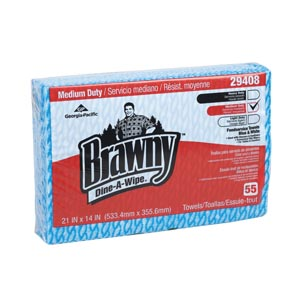 Georgia-Pacific Brawny Dine-A-Wipe Foodservice Quarterfold Busing Towels Case 29