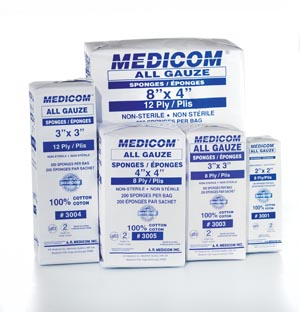 Amd Medicom All Gauze Sponges - Non Sterile Case 3001 By Medicom
