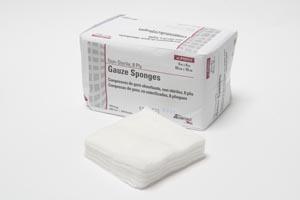 "Gauze Sponge, 4"" x 4"", 8-Ply, Non-Sterile, 200/sleeve, 20 slv/cs"