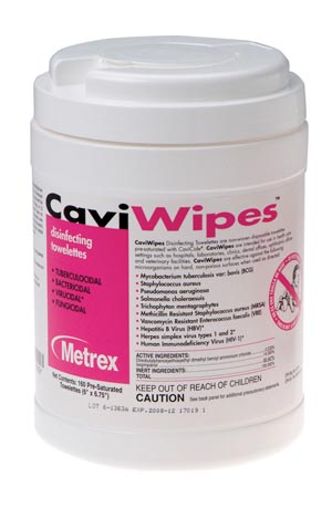 Metrex Caviwipes Disinfecting Towelettes Case 13-1100 By Metrex Research
