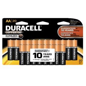 Duracell® Coppertop® Alkaline Retail Battery With Duralock Power Preserve Techno