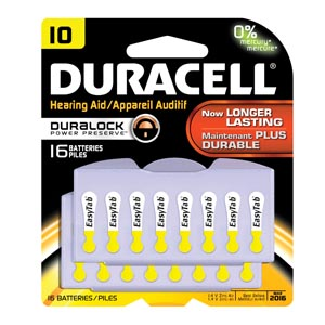 Duracell� Hearing Aid Battery Case Da10B16 By Duracell