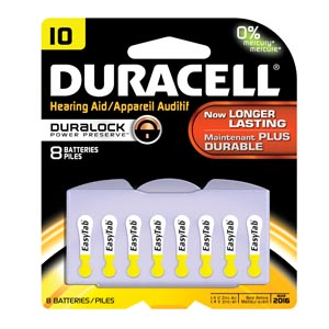 Duracell� Hearing Aid Battery Box Da10B8W By Duracell