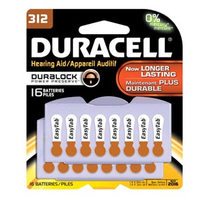 Duracell� Hearing Aid Battery Box Da312B16 By Duracell