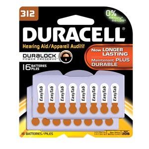 Duracell® Hearing Aid Battery Box DA312B16 by Duracell