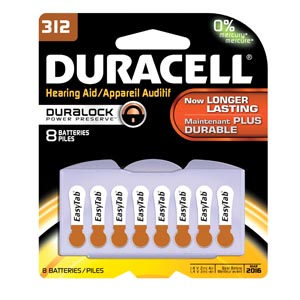 Duracell� Hearing Aid Battery Box Da312B8W By Duracell