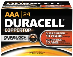 Duracell® Coppertop® Alkaline Battery With Duralock Power Preserve Technology Ca