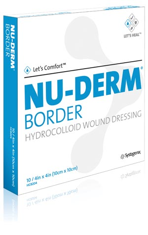 Acelity Nu-Derm Hydrocolloid Wound Dressing Case Hcb102 By Kci USA