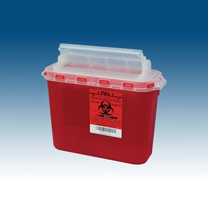 Plasti Wall Mounted Sharps Disposal System Case 143154 By Plasti-Products