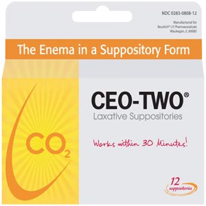 Beutlich Ceo-Two® Laxative Suppositories Box 0283-0808-12 by Beutlich LP Pharmac