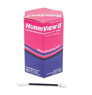 Beutlich Hurriview Ii® Two-Tone Plaque Indicating Snap -N- Go Swabs Box 0283-110