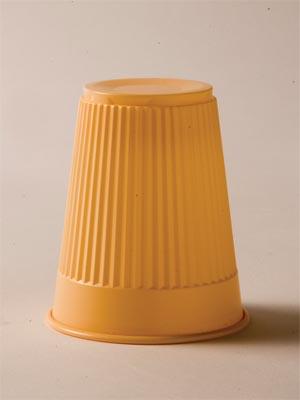 PEACH 5OZ PLASTIC CUPS