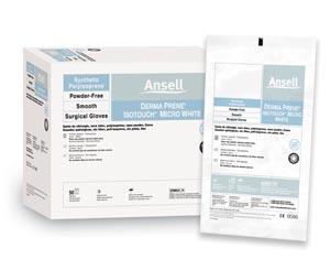 ANSELL GAMMEX NON-LATEX PI MICRO WHITE SURGICAL GLOVES: preorder ANS 20685985 cs