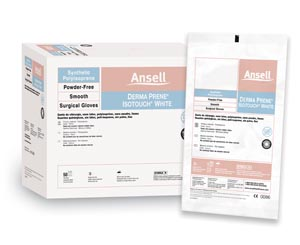 ANSELL GAMMEX NON-LATEX PI WHITE POWDER-FREE SYNTHETIC SURGICAL GLOVES: preorder ANS 20685785 cs