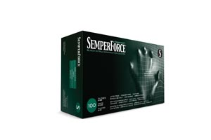 SEMPERMED SEMPERFORCE NITRILE EXAM POWDER FREE TEXTURED GLOVE: preorder SEM BKNF102 cs