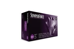 SEMPERMED SEMPERFORCE NITRILE EXAM POWDER FREE TEXTURED GLOVE: preorder SEM BKNF106 cs
