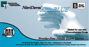 Innovative Nitriderm� Aquablue Powder-Free Nitrile Gloves Case 197200 By Innovat