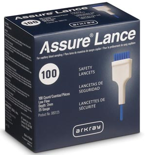Arkray Assure� Lance Low Flow Lancets Box 980125 By Arkray USA