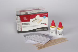 Guaiac Fecal Occult Blood Test Lab Pack, Includes: 100 Single Slide Tests, 2 x 10mL Developers, Applicators, 100/bx