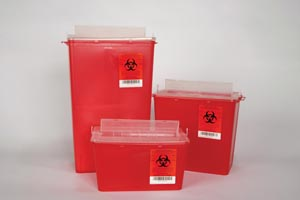 Plasti Horizontal Entry Sharps Containers Case 145004 By Plasti-Products