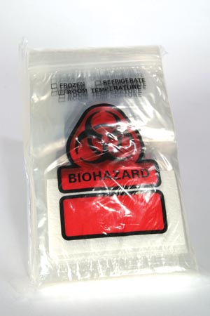 Rd Plastics Biohazard Recloseable Bag Case B100 By Rd Plastics Co.