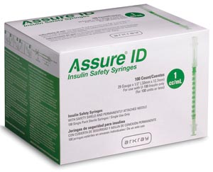 Arkray Assure® Id Insulin Safety Syringes Case 210291 By Arkray USA