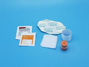 Busse 820 IV Start Kit, Tegaderm Dressing, (1) Alcohol Prep Pad, (1) PVP Prep Pad, Sterile, 50/cs