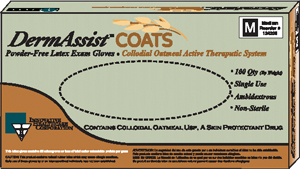 INNOVATIVE  DERMASSIST COATS  POWDER-FREE LATEX EXAM GLOVES: preorder IHC 124050 cs                                      $52.67 Stocked