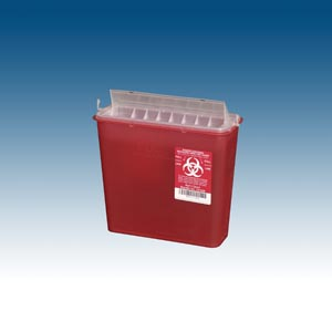 Plasti Wall Mounted Sharps Disposal System Case 141020 By Plasti-Products