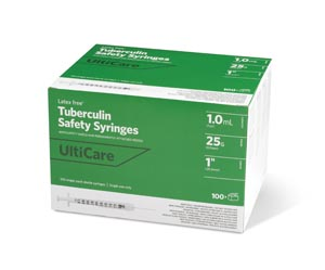 Ultimed Ulticare Tuberculin Safety Syringes Box 25110 by UltiMed