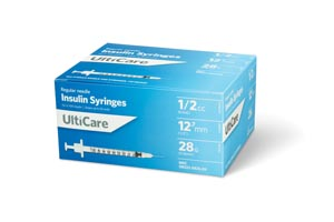 Ultimed Ulticare Insulin Syringes Box 8258 by UltiMed
