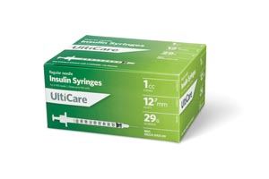 Ultimed Ulticare Insulin Syringes Box 9219 by UltiMed