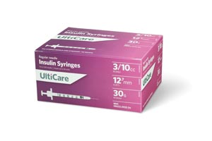 Ultimed Ulticare Insulin Syringes Box 9335 By Ultimed