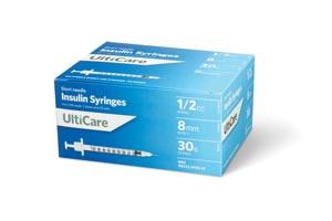 Ultimed Ulticare Insulin Syringes Box 9359 By Ultimed