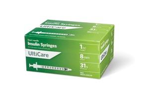 Ultimed Ulticare Insulin Syringes Box 9419 By Ultimed