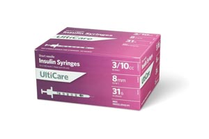 Ultimed Ulticare Insulin Syringes Box 9439 by UltiMed