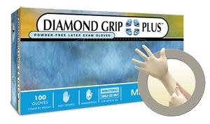 Microflex Diamond Grip Plus Powder-Free Latex Exam Gloves Case Dgp-350-L By Micr