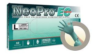 Microflex Neopro� EC Powder-Free Extended Cuff Chloroprene Exam Gloves Case Ne
