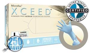Microflex Xceed® Powder-Free Nitrile Exam Gloves Case Xc-310-S By Microflex