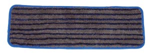 "Wet Mop, Microfiber Scrubber Pad, Blue and Gray, 5"" x 18"","