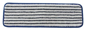 "Wet Mop, Microfiber Finish Pad, Blue With White Stripe, 5"" x 18"","