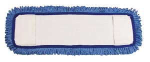 "Mop Pad, Ultra Looped-End Microfiber, Pocket Style, Blue, 5"" x 18"","